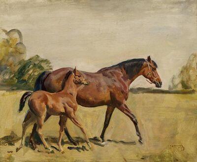 Alfred James Munnings, 'Broodmare & Foal'