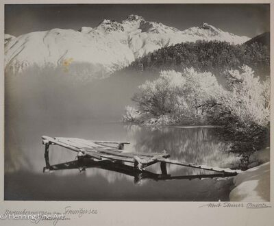 "Albert Steiner, '""Novembermorgen am St. Moritzersee. Oberengadin.""  (""November morning at Lake St. Moritz. Upper Engadine. "")', 1925-1950"