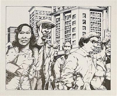 Chris DAZE Ellis, 'Crowd scene', 1996