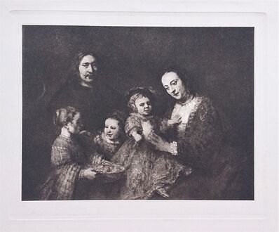 Rembrandt van Rijn, 'Portrait de Famille', ca. 1910