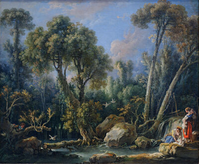 François Boucher, 'Laundresses in a Landscape', 1760