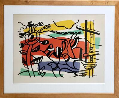 Fernand Léger, 'Composition aux deux Oiseau ', 1954