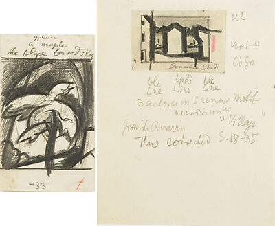 Oscar Bluemner, 'Two Works of Art: Untitled, Untitled'