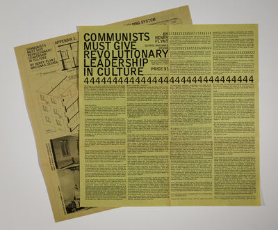 Henry Flynt, 'Communists Must Give Revolutionary Leadership in Culture', 1965