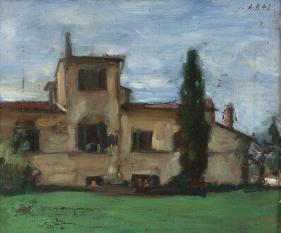 Antonio Bueno, 'Casolare con cipresso', 1942