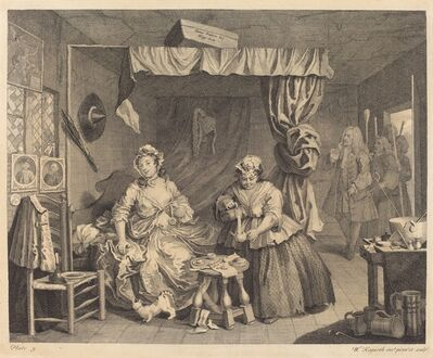William Hogarth, 'A Harlot's Progress: pl.3', 1732