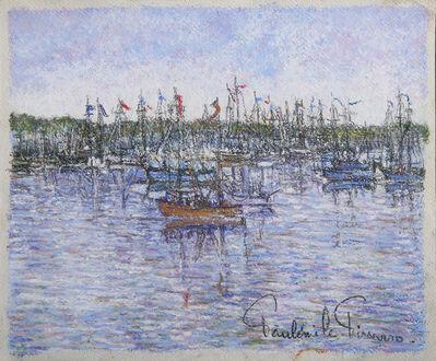 Paul Émile Pissarro, 'Le Bateau Rouge', ca. 1950