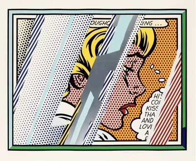 Roy Lichtenstein, 'Reflections on Girl', 1990