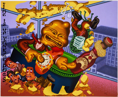 Peter Saul, 'Chinese Businessman Lands on Wall Street', 2006