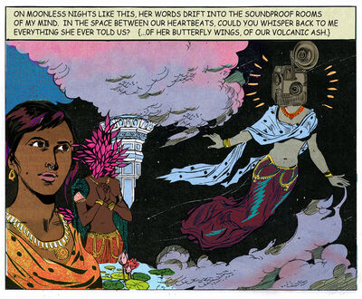 Chitra Ganesh, 'On Moonless Nights', 2016
