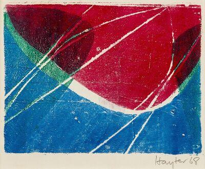 Stanley William Hayter, 'Untitled greeting card for 1968-9 (Black & Moorehead 326)', 1968/9