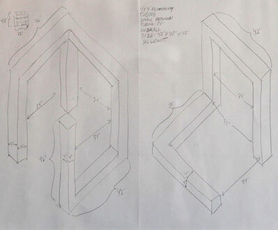 Sol LeWitt, 'Two Sculptures - Fabrication Drawings'