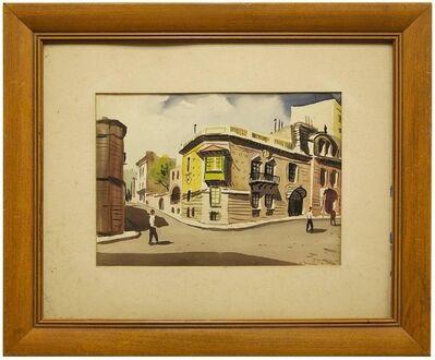 Joan Padern Faig, 'Calle Juncal, Buenos Aires, Argentina Scenic Street Scene Watercolor', 1940-1949