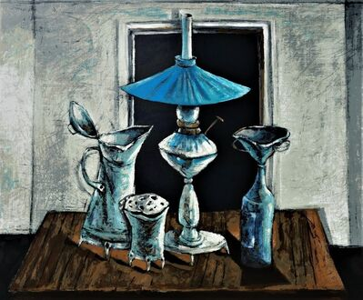 Yosl Bergner, 'The Blue Lampshade', ca. 1980