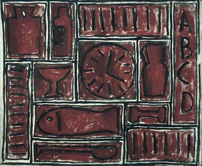 Elsa Andrada, 'Constructivo en rojo', 1950