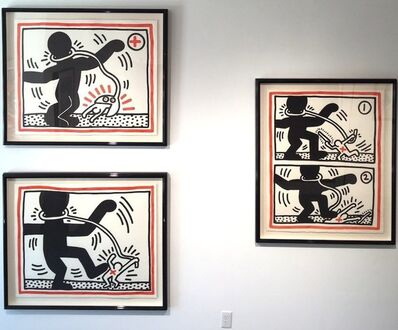 Keith Haring, 'Free South Africa (Set of 3)', 1985