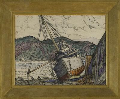 Marc-Aurèle Fortin, 'Bateau en Gaspésie', ca. 1938