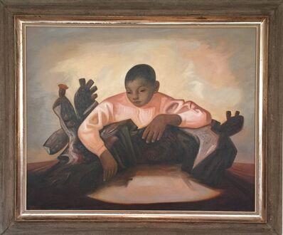 Jesus Guerrero Galvan, 'Niño con cactus', 1955