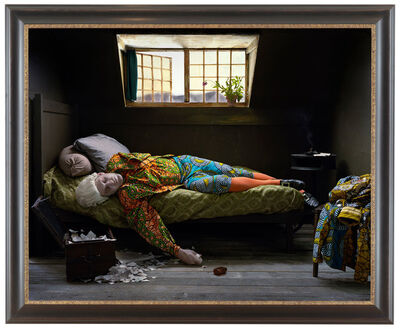 Yinka Shonibare CBE, 'Fake Death Picture (The Death of Chatterton – Henry Wallis)', 2011