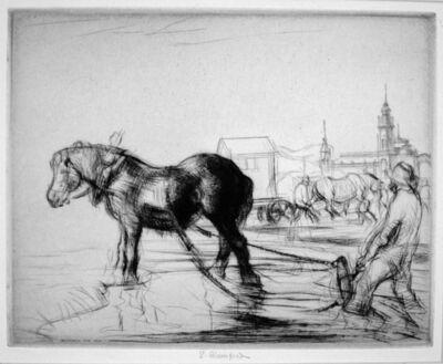 Edmund Blampied, 'Ostend Horse', 1926