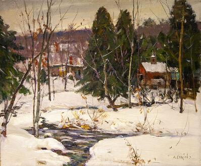 Antonio Cirino, 'Snowy Stream with Buildings', 1889-1983