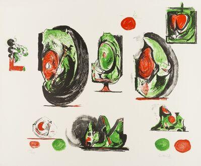 Graham Sutherland, 'Study Boards (Tassi 116)', 1971