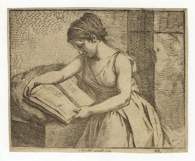 Angelica Kauffmann, 'Lesende, ein Buch auf einem Kissen haltend – Girl Reading (horizontal plate) ', 1767