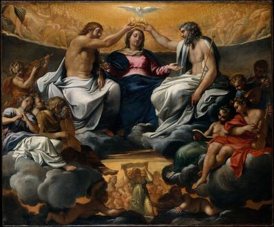 Annibale Carracci, 'The Coronation of the Virgin', ca. 1595