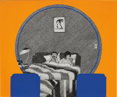 Gerald Laing, 'The Dressing Table at the Rosarito Hotel – Self-Portrait with Galina III', 1972