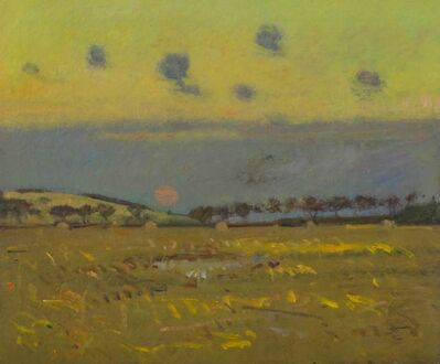 Theodore Wendel, 'Salt Marsh and Haystacks under Low Clouds, Ipswich', 19th -20th Century