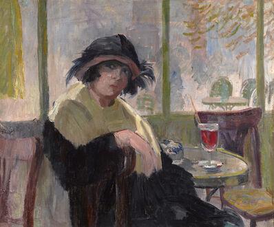 Elie Anatole Pavil, 'Au Café', ca. 1930