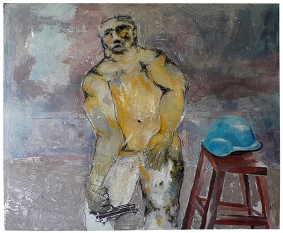 Sadikou Oukpedjo, 'Casque bleu', 2019