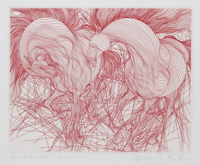Guillaume Azoulay, 'Encounter (Red)', ca. 1980