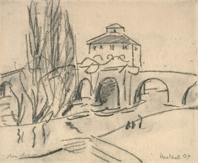Erich Heckel, 'Am Arno', 1909