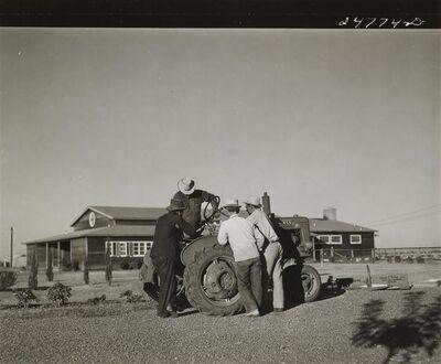 Arthur Rothstein, 'Men at tractor', ca. 1940