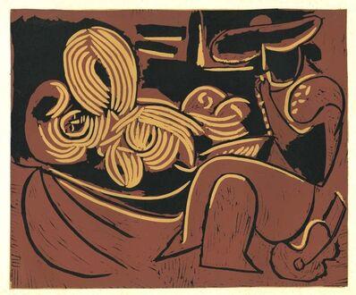 Pablo Picasso, 'Femme Couchée et Homme à la Guitare', 1962