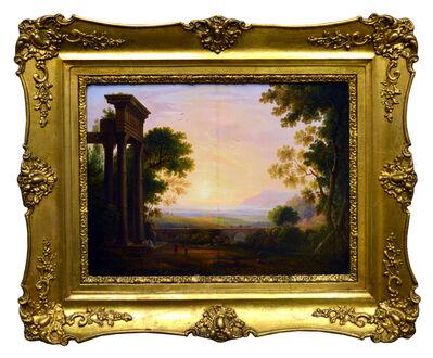 Károly Markó, Yr., 'Landscape with Ancient Ruins', 1850