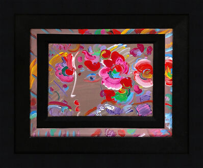Peter Max, 'PROFILE WITH FLOWERS', 1990