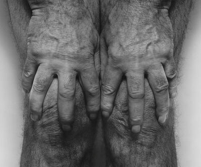 John Coplans, 'Self Portrait, Hands Spread On Knees', 1985