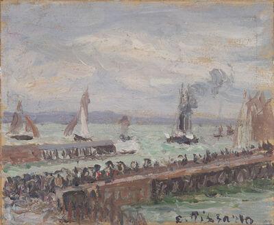 Camille Pissarro, 'Entrée du port du Havre et le brise-lame ouest, soleil, mer agitée', 1903