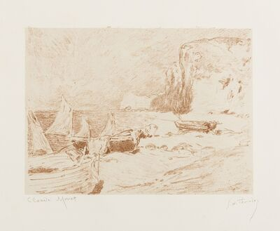 Claude Monet, 'Bateaux de Peche', 1890