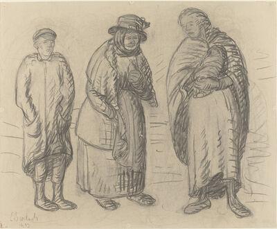 Ernst Barlach, 'Three Figures', 1913