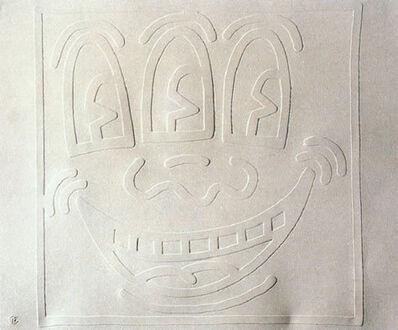 Keith Haring, 'White Icons: Three Eyed Man', 1990