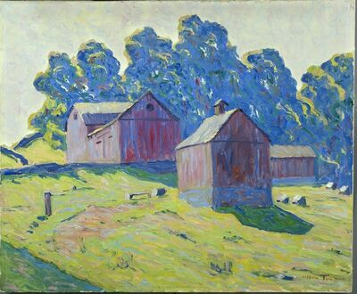 Allen Tucker, 'Red Barns', 1923