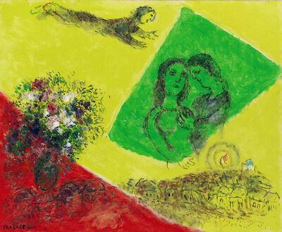 Marc Chagall, 'Les Amoureux au carré vert', ca. 1970-1975