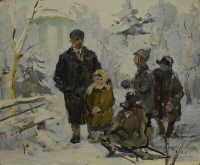 Aleksandr Nikiforovich Chervonenko, 'Children with Lenin', ca. 1960