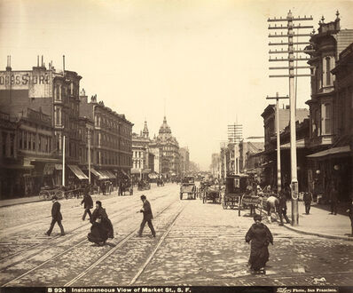 "Isaiah West Taber, '""Instantaneous View of Market Street"", San Francisco, CA', 1880s"