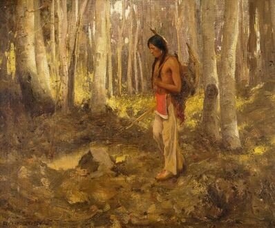 Eanger Irving Couse, 'Lone Hunter', 1907