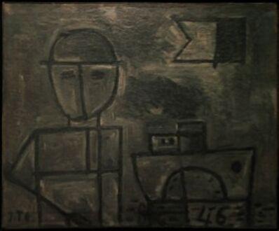 Joaquín Torres-García, 'Grafismo de Figura y Barco', 1946