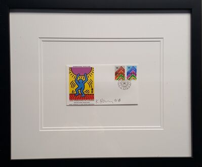 Keith Haring, 'United Nations International Youth Year (First Day Cover)', 1985